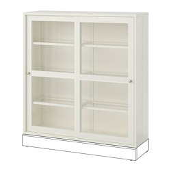 HAVSTA - Glass-door cabinet, white