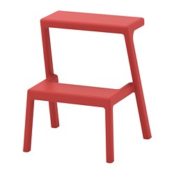 MÄSTERBY - Step stool, brown-red