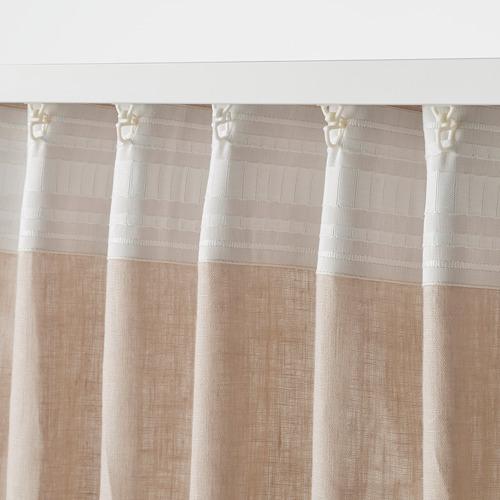 DYTÅG - curtains, 1 pair, beige, 145x250 cm   IKEA Indonesia - PE769394_S4