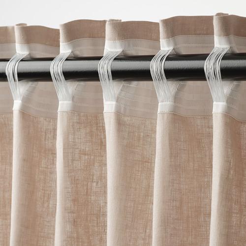DYTÅG - curtains, 1 pair, beige, 145x250 cm   IKEA Indonesia - PE769344_S4