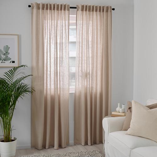 DYTÅG - curtains, 1 pair, beige, 145x250 cm   IKEA Indonesia - PE769345_S4