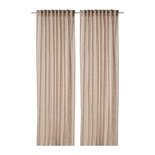 DYTÅG - curtains, 1 pair, beige, 145x250 cm   IKEA Indonesia - PE769346_S4
