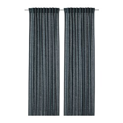 DYTÅG - Curtains, 1 pair, blue