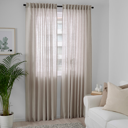 DYTÅG - curtains, 1 pair, light grey, 145x250 cm   IKEA Indonesia - PE769355_S4
