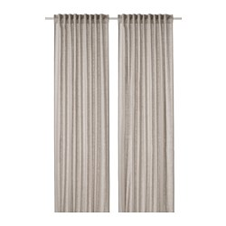 DYTÅG - Curtains, 1 pair, light grey