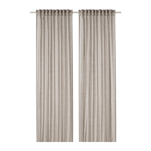 DYTÅG - curtains, 1 pair, light grey, 145x250 cm   IKEA Indonesia - PE769356_S4