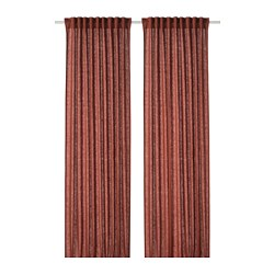 DYTÅG - Curtains, 1 pair, red-brown