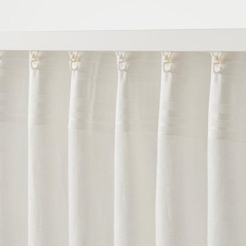 DYTÅG - curtains, 1 pair, white, 145x250 cm   IKEA Indonesia - PE769363_S4