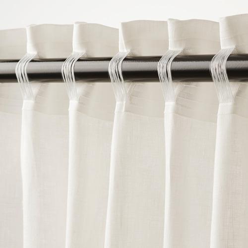 DYTÅG - curtains, 1 pair, white, 145x250 cm   IKEA Indonesia - PE769364_S4