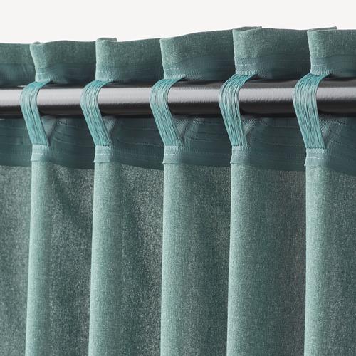 HANNALENA - room darkening curtains, 1 pair, green-blue, 145x250 cm | IKEA Indonesia - PE769374_S4