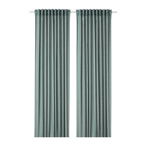 HANNALENA - room darkening curtains, 1 pair, green-blue, 145x250 cm | IKEA Indonesia - PE769376_S4