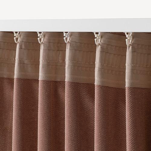 TIBAST - room darkening curtains, 1 pair, dark red, 145x250 cm | IKEA Indonesia - PE769390_S4