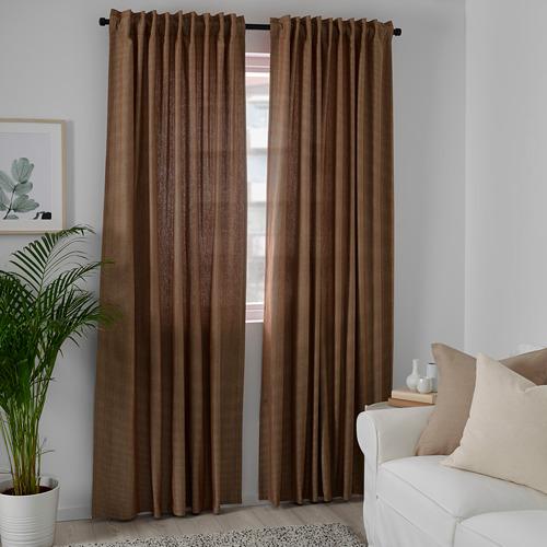TIBAST - room darkening curtains, 1 pair, dark red, 145x250 cm | IKEA Indonesia - PE769393_S4