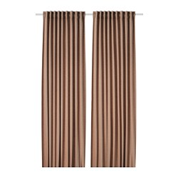 TIBAST - Room darkening curtains, 1 pair, dark red