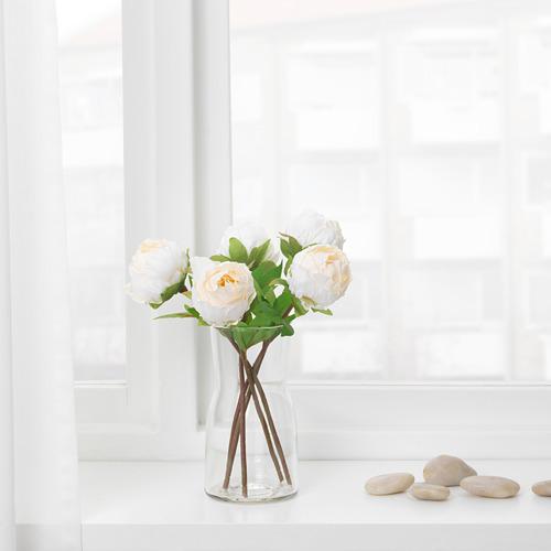 SMYCKA - bunga tiruan, Paeonia/putih, 30 cm | IKEA Indonesia - PE685425_S4