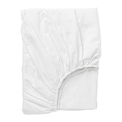 DVALA - DVALA, fitted sheet, white, 180x200 cm