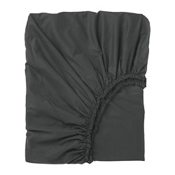 DVALA - Fitted sheet, black