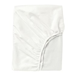 FÄRGMÅRA - Fitted sheet, white