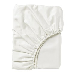NATTJASMIN - Fitted sheet, white