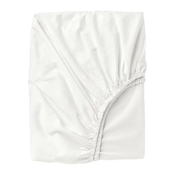 ULLVIDE - Fitted sheet, white