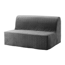 LYCKSELE LÖVÅS - Two-seat sofa-bed, Vallarum grey