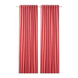 SANELA - Tirai penggelap ruangan, 1 pasang, cokelat muda-merah