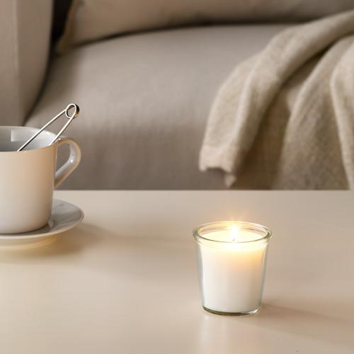 SMÅTREVLIG - lilin beraroma dalam gelas, Vanila dan garam laut/alami, 7 cm | IKEA Indonesia - PE629554_S4