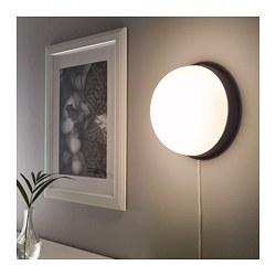 SKURUP - Lampu plafon/dinding, hitam