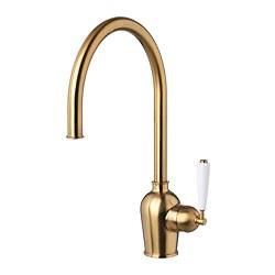 INSJÖN - Kitchen mixer tap, brass-colour