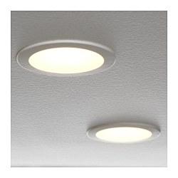 LAKENE - Lampu sorot tersembunyi LED, putih opal