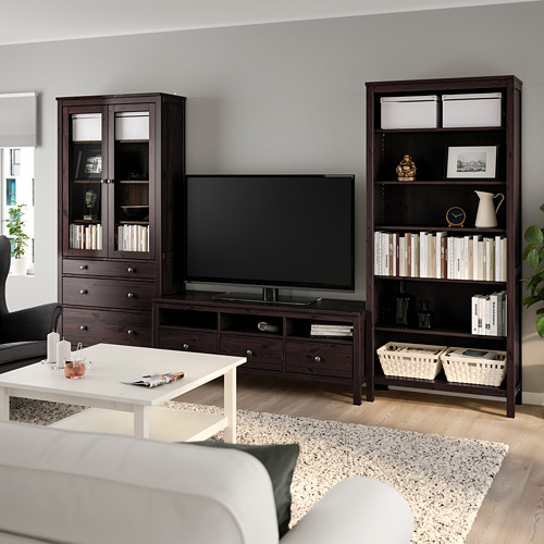 HEMNES kombinasi penyimpanan TV