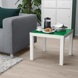 LACK - Meja samping, putih/hijau