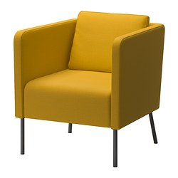 EKERÖ - Kursi berlengan, Skiftebo kuning