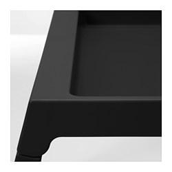 KLIPSK - Bed tray, black