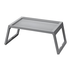 KLIPSK - Bed tray, grey