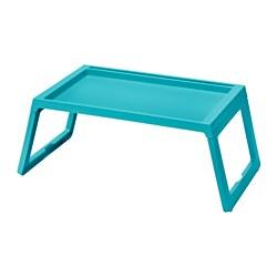 KLIPSK - Bed tray, turquoise