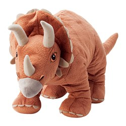 JÄTTELIK - Boneka, dinosaurus/dinosaur/triceratops, 69 cm