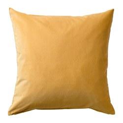 SANELA - Sarung bantal kursi, emas-cokelat