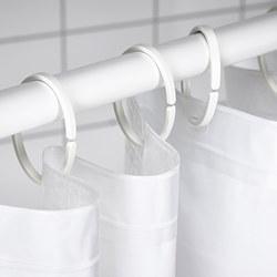 HASSJÖN - Ring tirai kamar mandi, putih