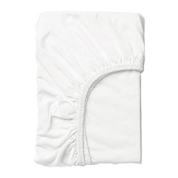LEN - Fitted sheet, white