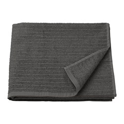 VÅGSJÖN - Bath towel, dark grey