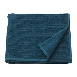 VÅGSJÖN - Bath towel, dark blue