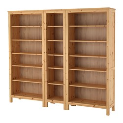 HEMNES - Bookcase, light brown, 229x198 cm