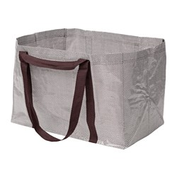 YPPERLIG - Carrier bag, large, dark red/white