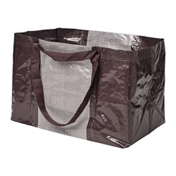 YPPERLIG - Carrier bag, large, dark red