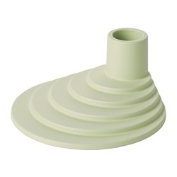 YPPERLIG - Candle holder, light green