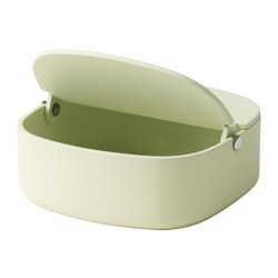 YPPERLIG - Box with lid, light green