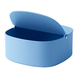 YPPERLIG - Box with lid, blue