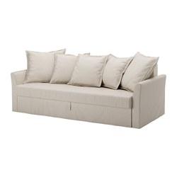 HOLMSUND - Sofa tempat tidur 3 dudukan, Nordvalla krem