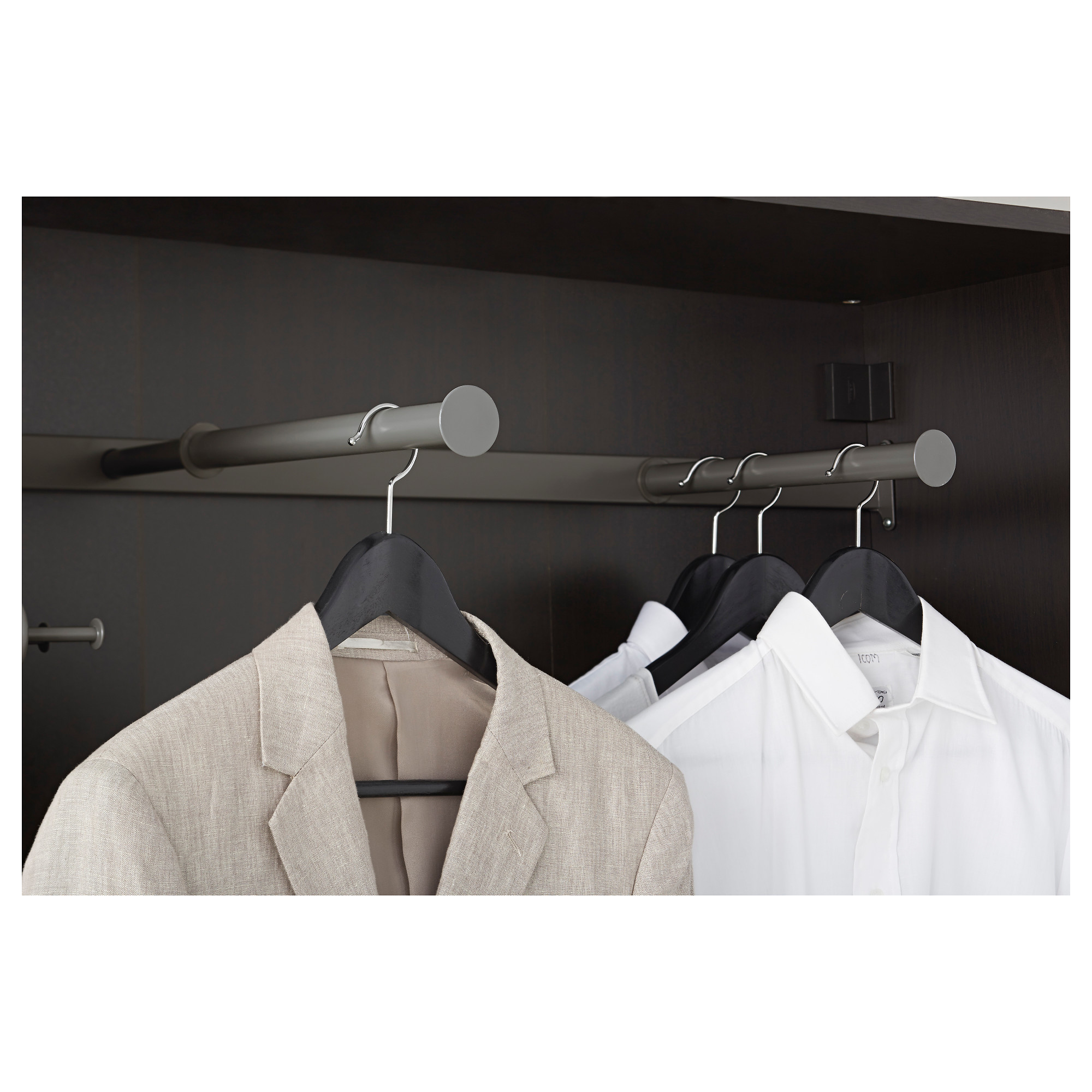 Ikea KOMPLEMENT dark grey 100x35 cm Pull-out clothes rail